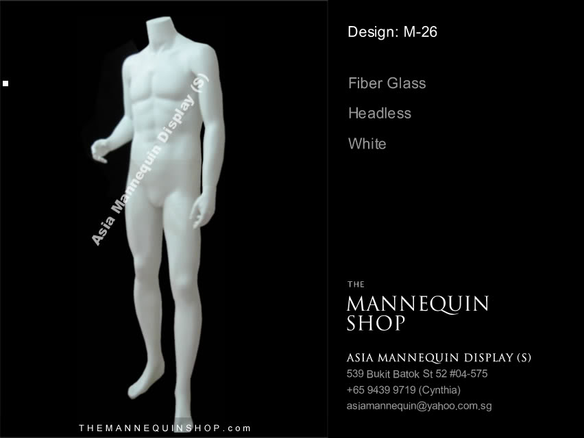 Mannequin male White Color Headless M-26