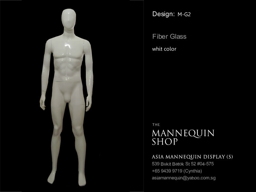 Mannequin Male White Color Headless M-G2