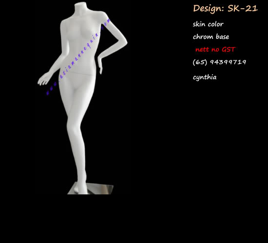 Mannequin Female White Color HeadlessMH-06