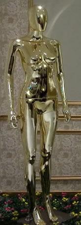 Mannequin Female chrome gold