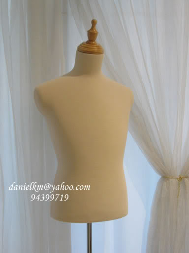Torso wood base Male foam mannequin beige color TW-09