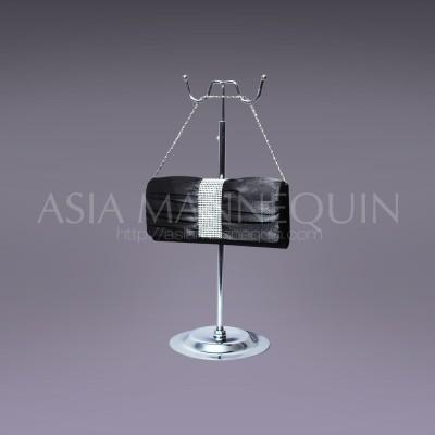 bag display stand chrome silver 2way