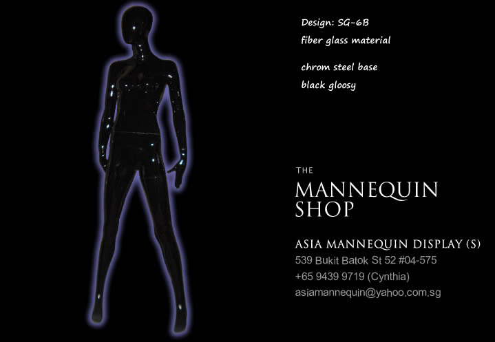 Mannequin Female Glossy Black Color SG-6B