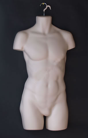 Foam Mannequin male black / white color