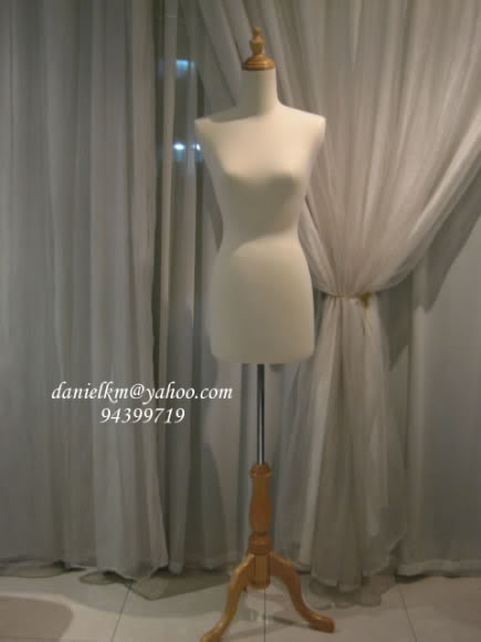 Torso wood base foam mannequin beige color TW-08